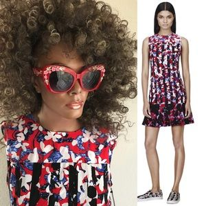 NWT PETER PILOTTO Floral Abstract Print DRESS M